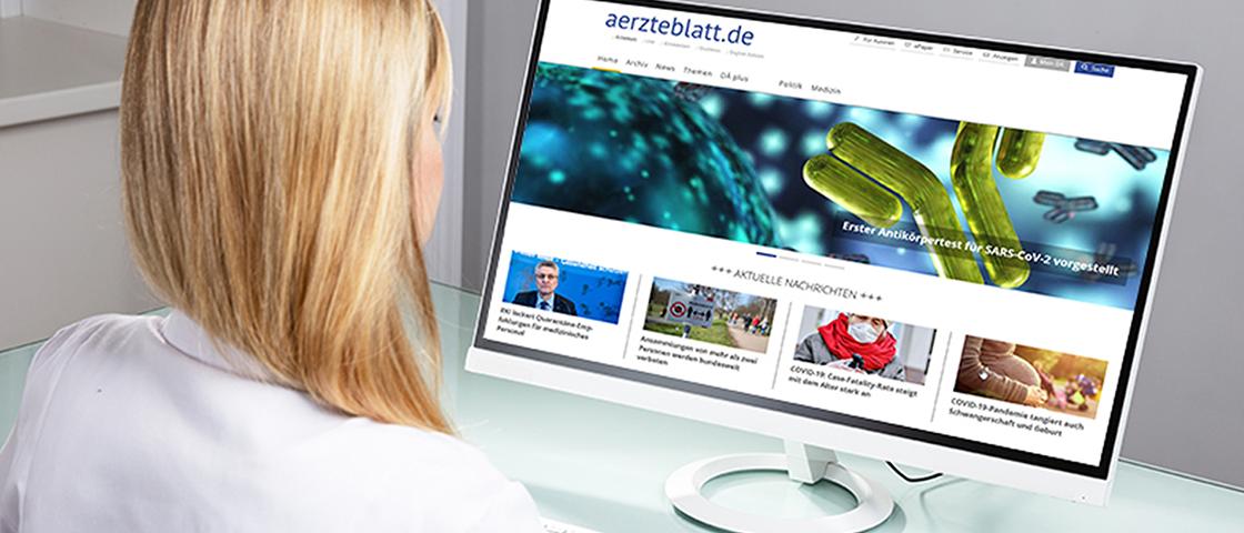 aerzteblatt.de auf einem Bildschirm