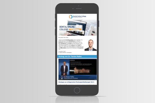 Dental Online College auf dem Smartphone