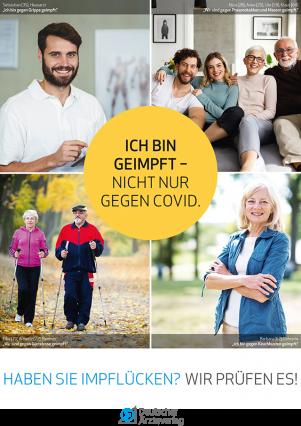 Plakat zur Impfkampagne 2021 des Deutschen Ärzteverlags